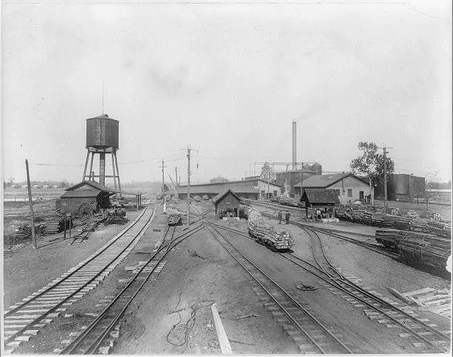 View in yards of Ayer-Lord tie plant, Carbondale, Ill.