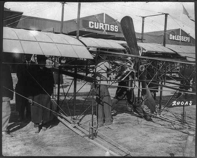Walter Christie's own design of airplane at the Belmont Park Meet, October 22-31, 1910