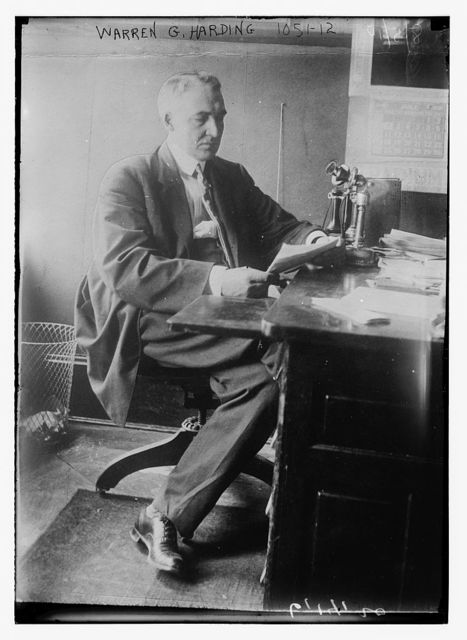 Warren G. Harding at desk
