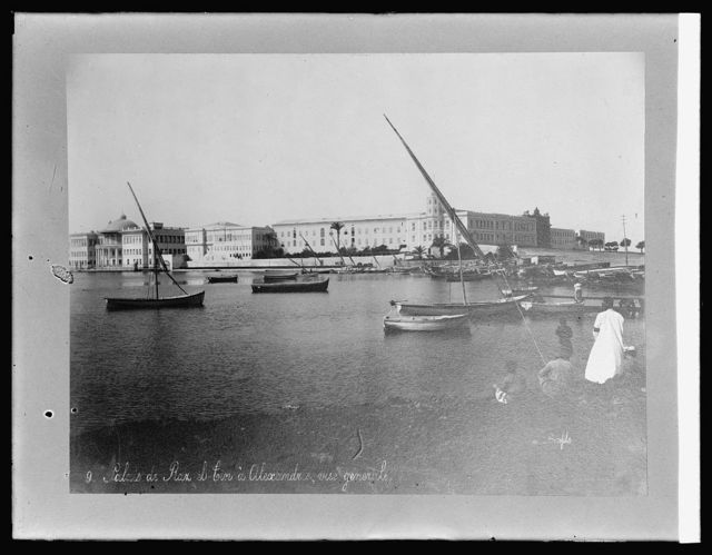 Water front at Alexandria, [Egypt], from Palace Ras el Tin