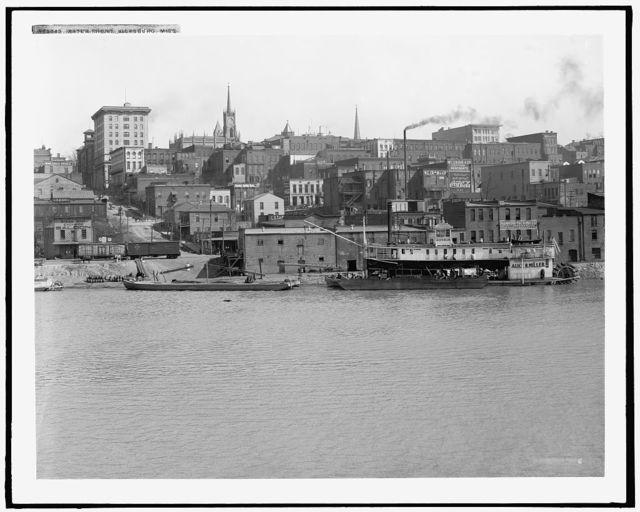 Water front, Vicksburg, Miss.