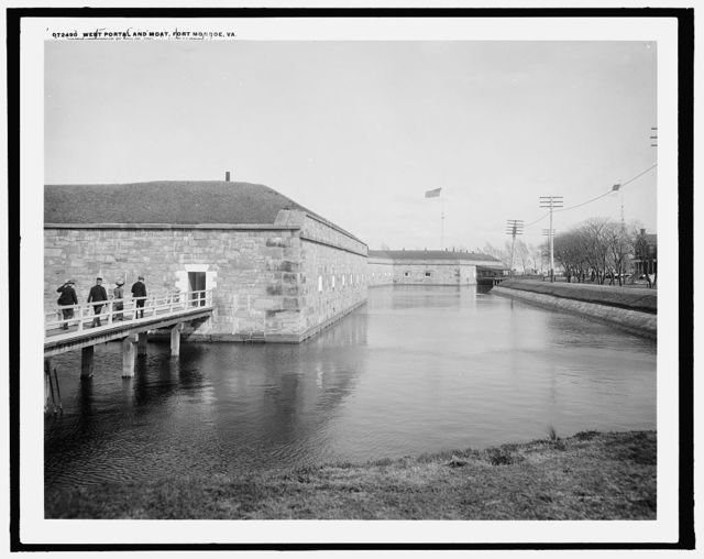 West portal and moat, Fort Monroe, Va.
