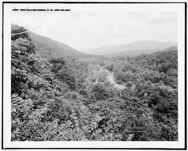 White Sulphur Springs, W. Va., from the west