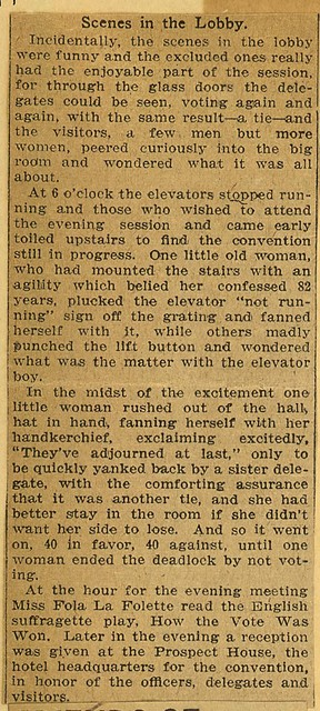 Win Fight By One Vote-Buffalo Teachers gain entrance to New York State Woman Suffrage Association; page 2