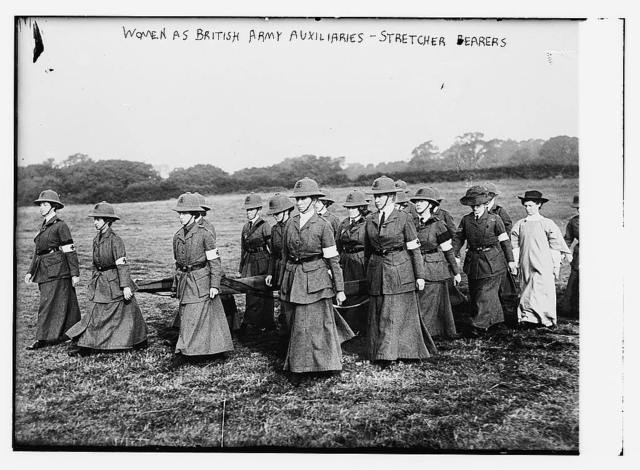 Women at British Army Auxiliaries - Stretcher Bearers