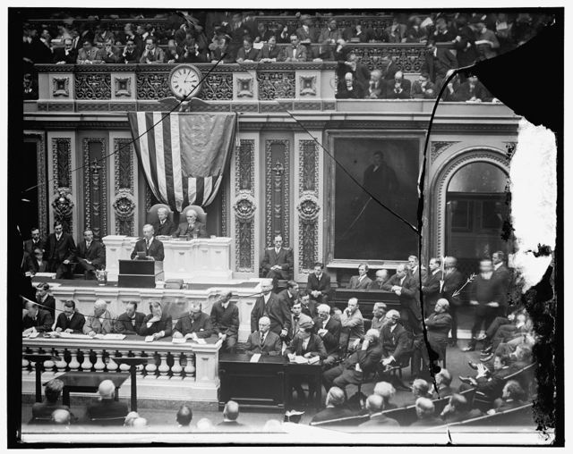 Woodrow Wilson addressing Joint Session
