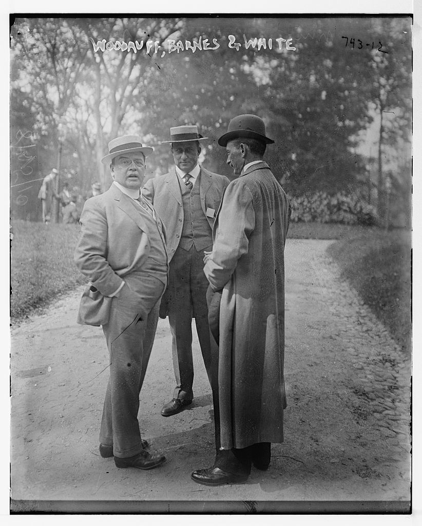 Woodruff, Barnes, and White, standing together in park