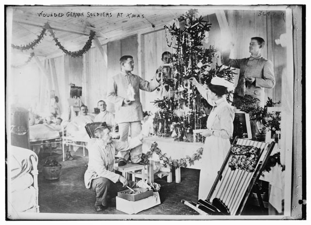 Wounded German soldiers at Xmas