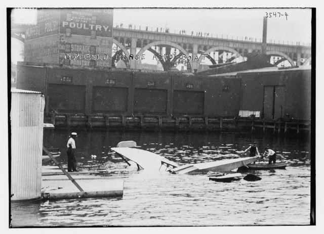 Wrecked Morse aero-boat