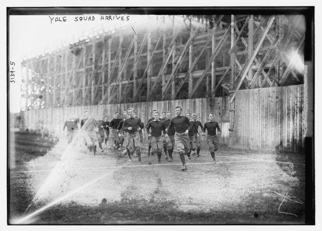 Yale squad arrives