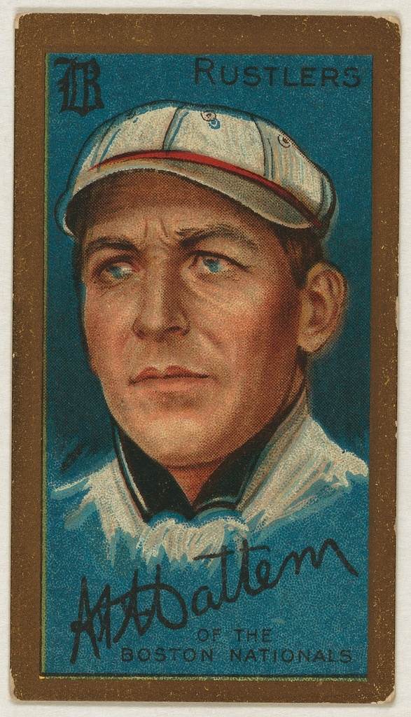 [A. A. Mattern, Boston Rustlers, baseball card portrait]