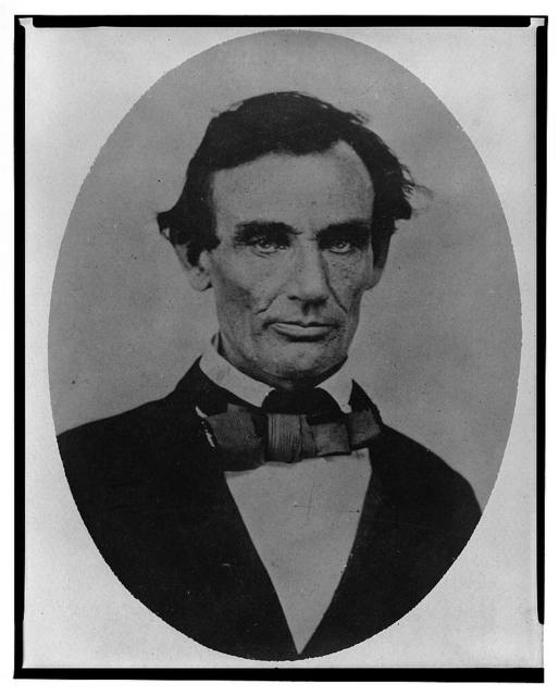 [Abraham Lincoln, head-and-shoulders portrait, facing slightly left, taken in Pittsfield, Illinois, two weeks before the final Lincoln-Douglas debate in Lincoln's unsuccessful bid for the Senate, October 1, 1858]