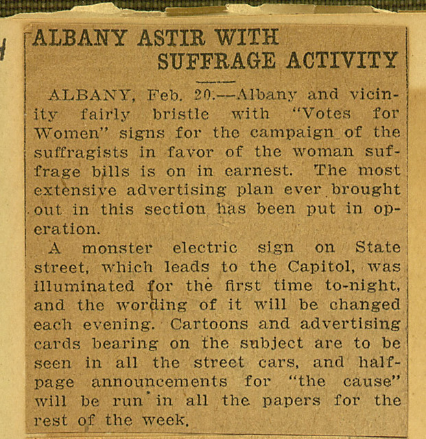 Albany Astir with Suffrage Activity