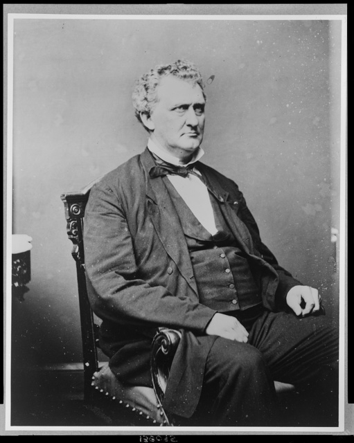 [Alfred Gaither Allen, Democrat congressman from Ohio, three quarter-length portrait, seated, facing right]