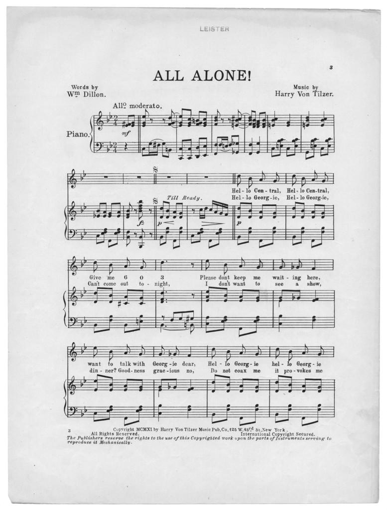 All alone!