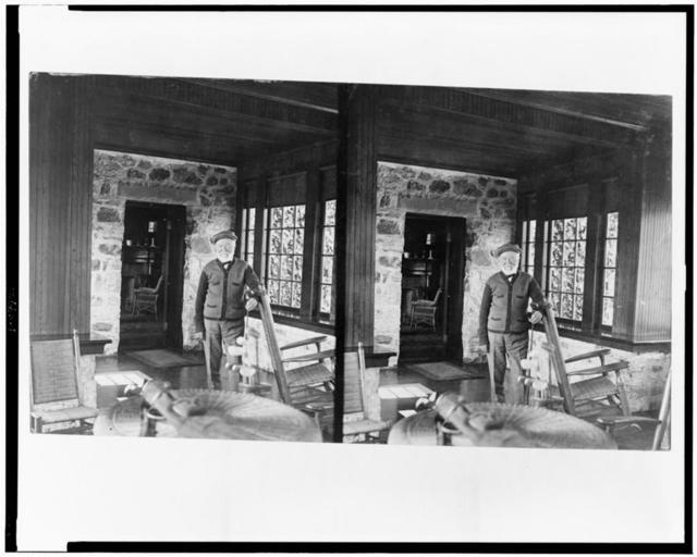 [Andrew Carnegie in his golf cottage, near St. Andrews Golf Links, Westchester Co., N.Y.]