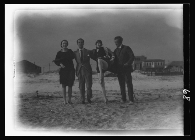 Arnold Genthe and friends in Long Beach, New York