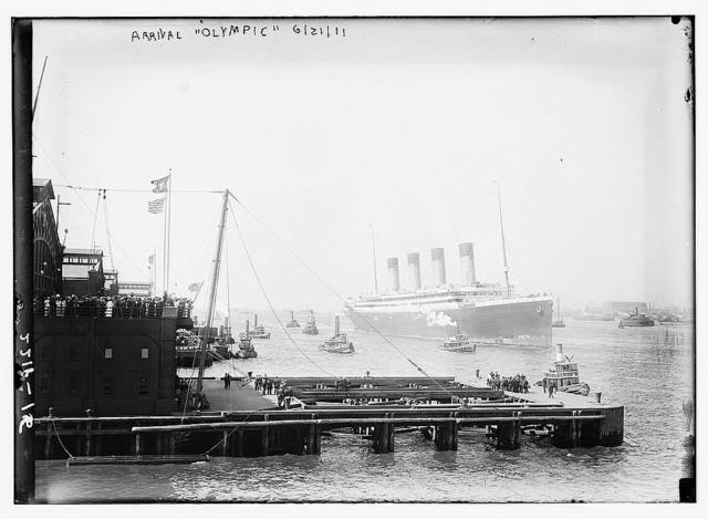 Arrival OLYMPIC, 1911