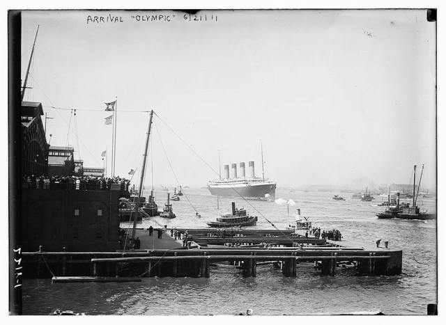 Arrival OLYMPIC 1911