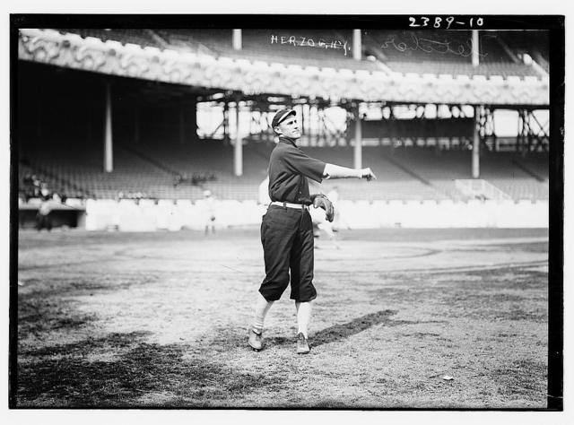[Art Fletcher (New York NL) prior to the World Series at the Polo Grounds, NY, 1911 (baseball)]