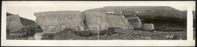 Bayless Dam on Freemans Run, Austin, Pa. which burst Sept. 30, 1911