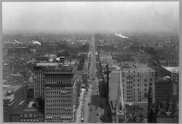 [Bird's-eye view of North Broad Street, Philadelphia, Pennsylvania]