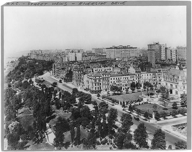 [Bird's-eye view of Riverside Drive from 72nd St., New York City]