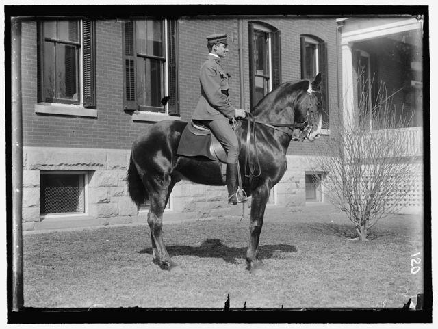 BRABSON, JOE R. 2ND LT., 3RD FIELD ARTILLERY, U.S.A. AT FORT MYER