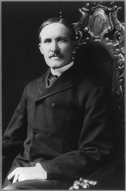 [B.S. Rodey (Bernard Shandon Robey, 1856-1927?), half length portrait, seated, facing slightly left ]