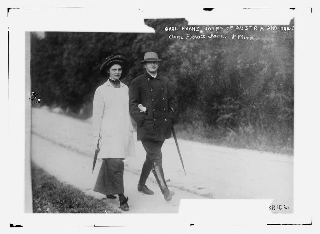 Carl Franz Josef of Austria and bride