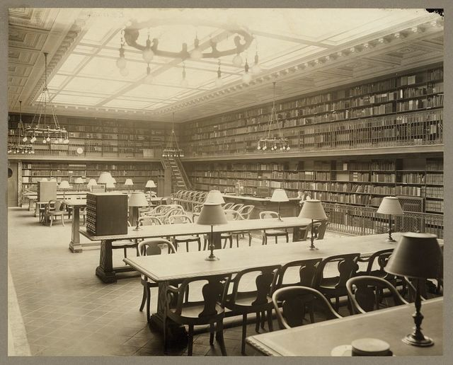 [Circulating department, American history section of the New York Public Library]