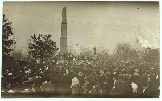Col. Roosevelt giving public address at Birmingham, N.C.L.C. Conference.  Location: Bir[mingham], Alabama.