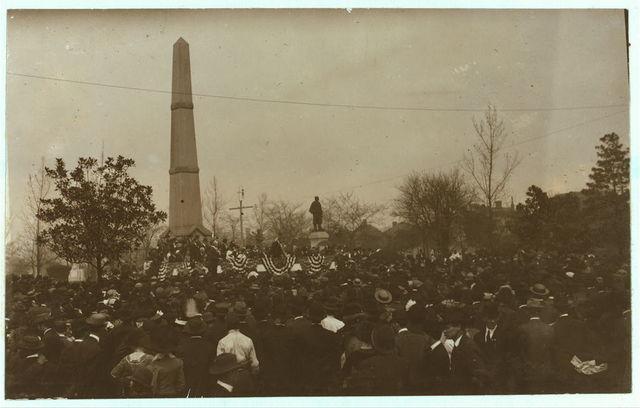 Col. Roosevelt giving public address N.C.L.C. Conference Birmingham.  Location: Bir[mingham], Alabama.