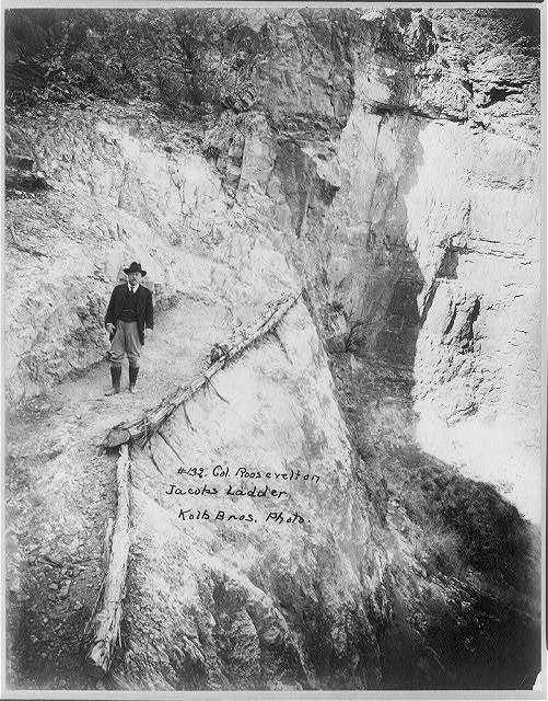 Col. Roosevelt on Jacobs Ladder / Kolb Bros. Photo.