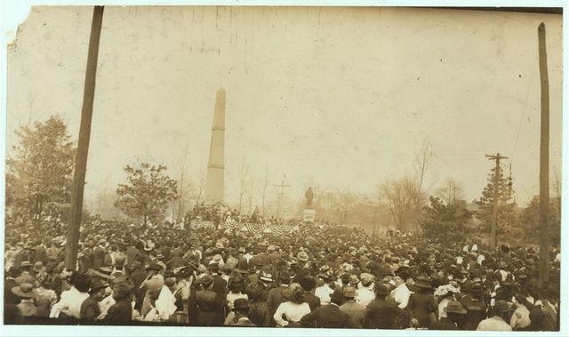 Colonel Roosevelt giving public address in Birmingham N.C.L.C. Conference.  Location: Birmingham, Alabama.