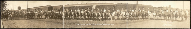 """Cow Girls"" at the Pendleton ""Round Up"", 1911"