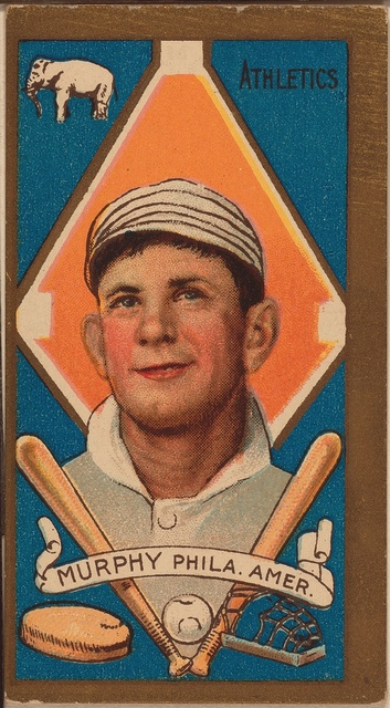 [Daniel Murphy, Philadelphia Athletics, baseball card portrait]