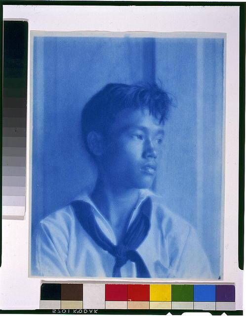 [David Leung, in sailor suit]