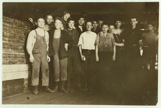Dosilav Loselle, 6 Gardner Rd. (At his Machine) Young band boy been there 3 months.  Location: Chicopee, Massachusetts.