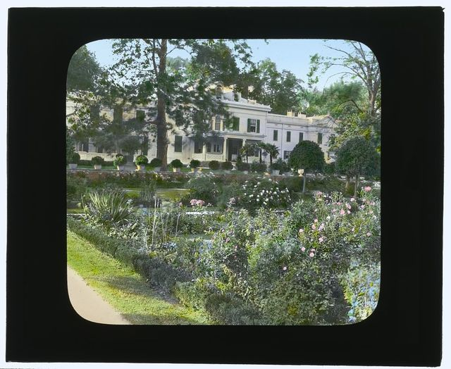 """[""""Drumthwacket,"""" Moses Taylor Pyne house, 354 Stockton Road, Princeton, New Jersey. House overlooking the Italian garden]"""