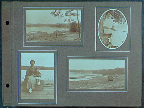 Early years, with images of family, self portraits, landscapes and architectural interiors. Images of Mrs. Gottscho and Schroon Lake area II