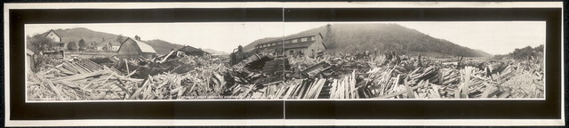 Emporium Lumber Company's hardwood mill at Austin, Pa. which stood the flood
