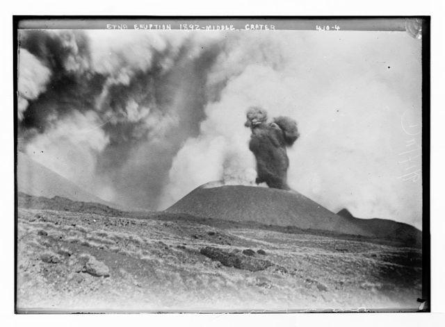 Etna eruption 1892 - Middle crater