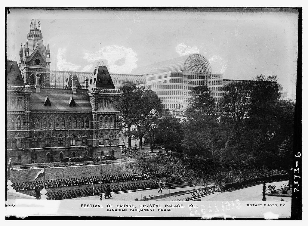 Festival of Empire, Crystal Palace, 1911; Canadian Parliament House
