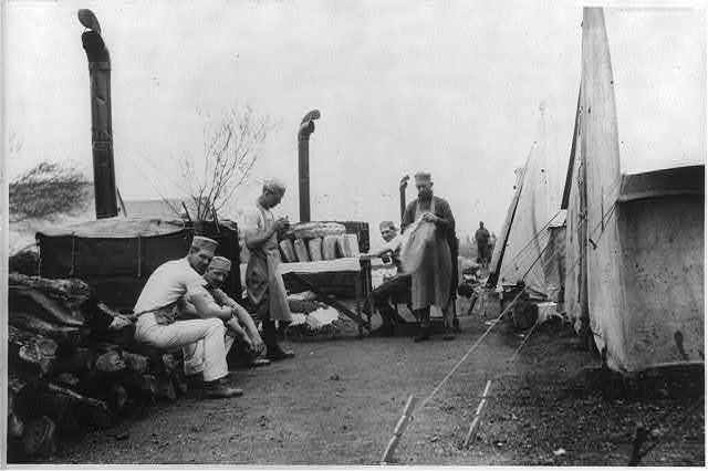 Fort Sam Houston, Tex., 1911-1912: portable army bake shop in camp