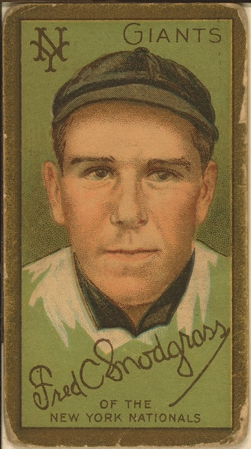 [Frederick C. Snodgrass, New York Giants, baseball card portrait]