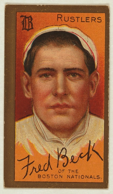 [Frederick T. Beck, Boston Rustlers, baseball card portrait]