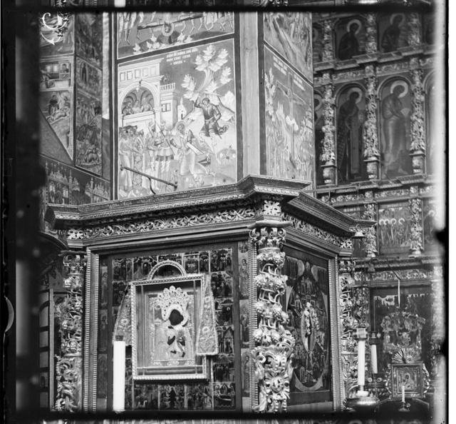 Freska na kolonki︠e︡ v t︠s︡erkvi Ioanna Zlatousta. I︠A︡roslavlʹ