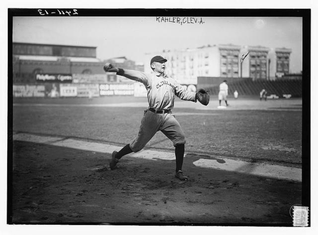 [George Kahler, Cleveland AL, at Hilltop Park, NY (baseball)]
