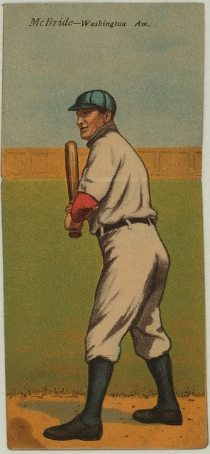 [George McBride/Norman Elberfeld, Washington Nationals, baseball card portrait]